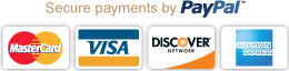 Secure payments with PayPal and major credit cards